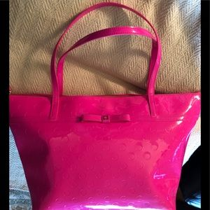 KATE SPADE LARGE HOT PINK TOTE LIKE NEW